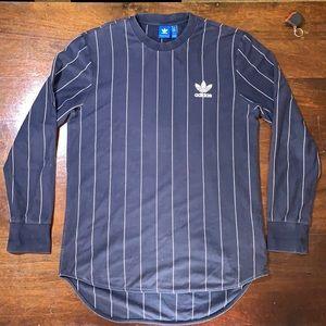Adidas Sz L SlimFit Longline T Shirt w Stripes 😎